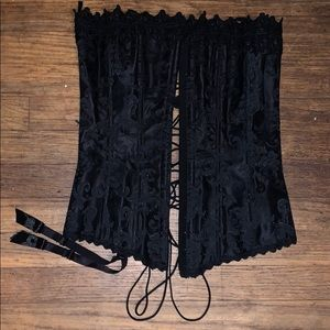 Frederick's of Hollywood Black Lace Corset